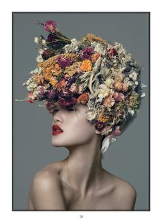 2014 Spring Summer Beauty Issue Spring In Bloom (Modern Weekly (China)) - Floral Headpiece Casco Floral, Portrait Photography, Fashion Photography, Floral Headdress, Foto Fashion, Fashion Art, Floral Fashion, Summer Beauty, Hair Art