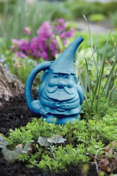 Novelty Mfg. Gnute The Gnome Gal. Watering Can   Blue   Watering Cans    Novelty Products EarthBox®   Homegrown Vegetables Without A Garden®