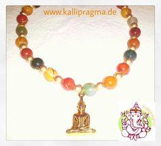 "Buddha kette aus Achat 12"" # kallipragma Design"