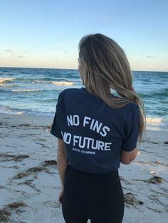 **FAV** Shark Fin - No Fins No Future Unisex Vneck - Wilddtail