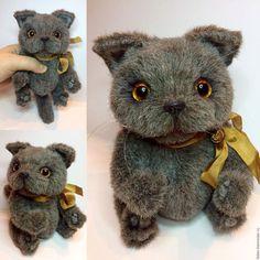 """Купить Тедди-кот """"Британчик""""(16см) - кот, коты, коты и кошки, котики, кот игрушка"""