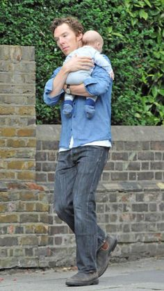 Actor Benedict Cumberbatch, has been spotted out and about in London with his wife, Sophie Hunter, and new baby son. The couple welcomed their first baby in June. Benedict Sherlock, Dave Franco, Andrew Scott, Helena Bonham Carter, Martin Freeman, Bucky Barnes, Sherlock Holmes, Tom Hiddleston, Gotham