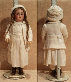 14 inch Simon & Halbig 1448 Doll in All-Original Costume. This is a VERY RARE, VERY high quality doll. They are rarely seen. And in an authentic, original costume like this one --- NEVER!