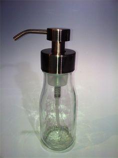 You can make a soap pump from a mason jar, liquor bottle, beer bottle, wine bottle or any old jar Alcohol Bottle Decorations, Liquor Bottle Crafts, Alcohol Bottles, Liquor Bottles, Liquor Glasses, Wine And Liquor, Starbucks Glass Bottles, Small Milk Bottles, Milk Jug Crafts