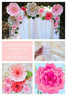 Paper flower backdrop tutorial. DIY paper flowers.