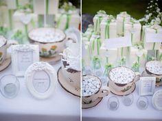 Dettagli bianchi e verdi per un matrimonio shabby chic: Michela e Mauro
