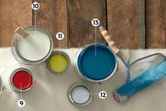 9. STOP Sherwin-Williams 10. TIBETAN JASMINE Ralph Lauren Paint 11. GALAPAGOS ISLANDS Clark+Kensington 12. HARDWICK WHITE Farrow & Ball 13. DUSK Restoration Hardware