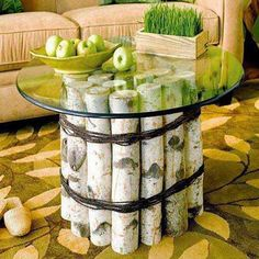 40 DIY Log Ideas Take Rustic Decor To Your Home - This would be cool in Matt and Amanda's cabin!
