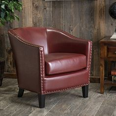 Christopher Knight Home Austin Oxblood Red Bonded Leather Club Chair -- Awesome products selected by Anna Churchill