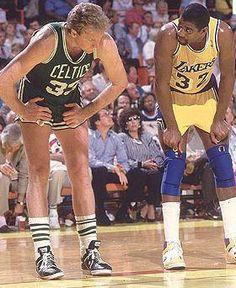 Larry Bird and Magic Johnson.