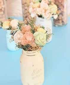 Wedding Centerpiece Flowers Small Wedding by CuriousFloralCrafts, $28.00