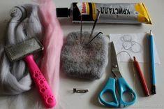 Валяем уютную брошь «Спящий мышонок» - Ярмарка Мастеров - ручная работа, handmade