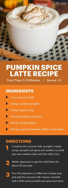 Drinks that leave pumpkin spiced lattes in the dust - Dr. Axe http://www.draxe.com #health #holistic #natural