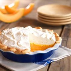 Cantaloupe Cream Pie @calcantaloupes