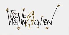 Frohe Weihnachten Kalligraphie