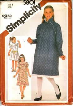 7acf32d1d Childrens Sewing Patterns, Vintage Sewing Patterns, Cute Girl Dresses, Girl  Dress Patterns,