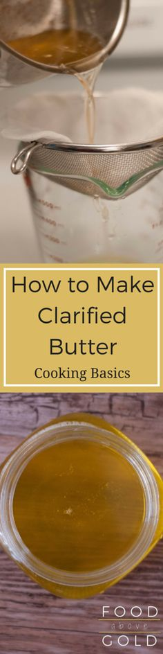 Learn how to make clarified butter and discover it's benefits for your daily cooking. Also, tips for longterm storage and how it differs from ghee.