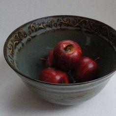 Blue ceramic Deep Serving Bowl