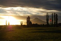 View of Mount Taranaki from the Forgotten World Highway, New Zealand
