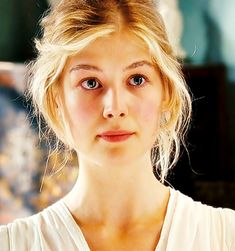 Rosamund Pike in Pride & Prejudice... Love her fresh, pure, easy looks... Perfect for that time period. Flawless!