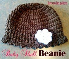 Free Crochet Pattern - Baby Shell Beanie