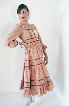 Light pink vintage Gunne Sax dress