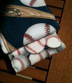 Adorable baseball burp cloth set, great baby shower gift