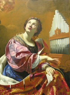 Saint Cecilia (circa 1626). Simon Vouet (French, Baroque, 1590-1646). Oil on canvas. The Blanton Museum of Art. Saint Cecilia is known as the patron saint of music and musicians. At her wedding, while...