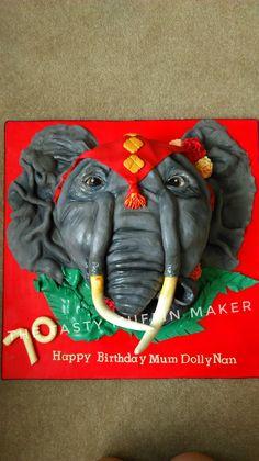 Elephant head cake