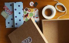 Caixinha de fotos com apliques de scrapbooking Scrapbook, Diy, Diy Home, Box, Creativity, Craft, Maids, Appliques, Bricolage