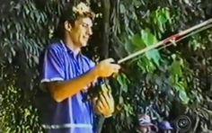 Senna pesca em sítio de Cândido Mota (Foto: Reprodução/ TV TEM)