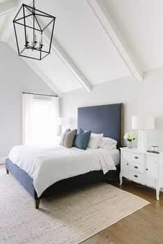 Bedroom Ceiling: Simple with something, I really like this ceiling. The beam has some detail. The beam detail should match what the beams are like in the living room