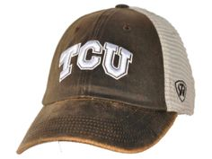 100% authentic a1903 4bbb6 TCU Horned Frogs Top of the World Brown Scat Mesh Adjustable Snapback Hat  Cap