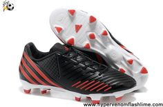 ed8f79d91ee Wholesale Cheap Adidas Predator LZ TRX FG Bright Black-Red Football Shoes  For SaleFootball Boots