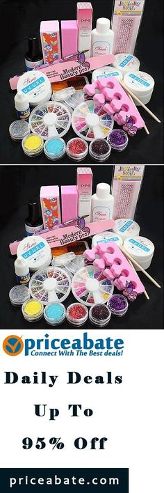 #Priceabate DIY Acrylic Glitter Powder Glue File Nail Art UV Gel Tips Decorations Set Kit - Buy This Item Now For Only: $14.8