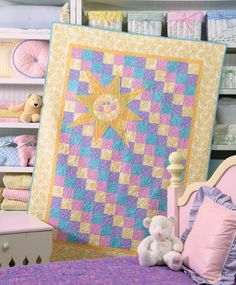 Sunlight, Sunbright by Mimi Dietrich, machine quilted by Linda Newsome in Quilters Newsletter Presents Best Quilts for Kids 2011