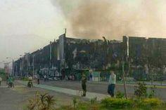 Un recorrido en imágenes tras incendio y saqueo en...