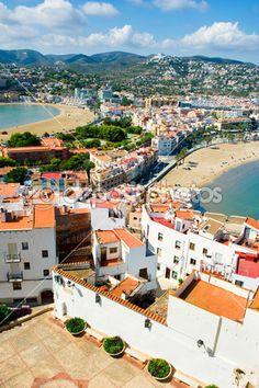 Ansicht der Stadt Peniscola in Valencia, Spanien