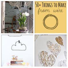 50+ Awesome Things To Make From Wire con fil di ferro, carta, ecc.