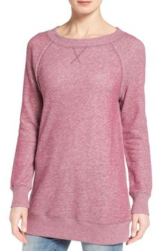 Plan on wearing this pink space dye sweatshirt for cozy nights in at home. It's just so darn comfortable. One of the favorites from the Anniversary Sale.
