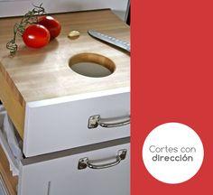 Una excelente idea para hacer tus cortes y cocinas de una manera mas ordenada, sin ocupar tanto espacio.