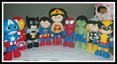 Missão  cumprida!!!  Batman ✔ Super-homem✔ Hulk ✔ Wolverine ✔ Thor✔ Homem-Aranha ✔ Capitão América ✔ Homem de ferro ✔ Mulher Maravilha  ✔  #artesdamarjorie  #super-heróis #feltro #artesanato