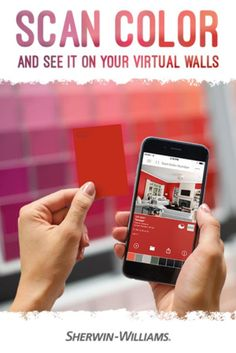 ColorSnap Visualizer for iPhone and Android allows you to scan any Sherwin-Williams color card to explore that color.