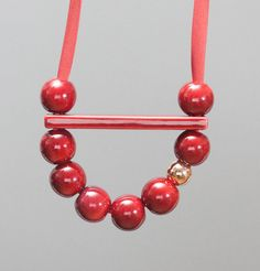 Marion Vidal Burgundy Beads Necklace on sale at L'Exception