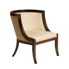 "Rose-tarlow-melrose-house-directoire-barrel-chair-furniture-dining-room W - 26-1/2"" D - 30"" H - 32"" Seat H - 18-1/2"" Seat D - 21"""