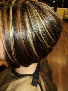Tri Color Highlights On Shoulder Length Hair Stylist Wendy Brown Minot Salon