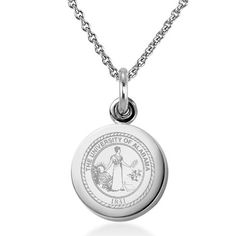 University of Alabama sterling silver necklace and sterling silver charm, perfect for any proud Alabama alumnus or fan.