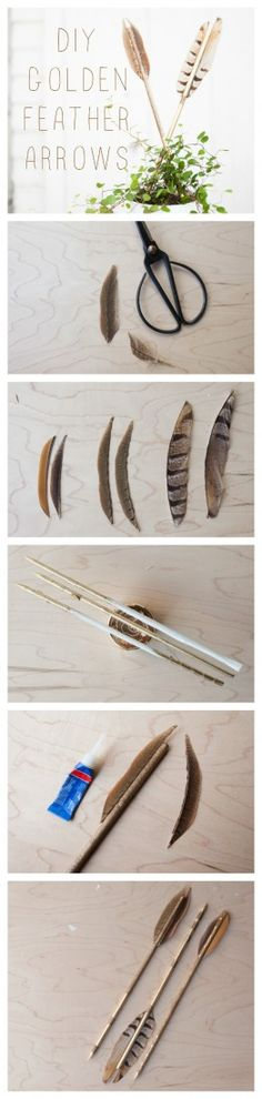 I was JUST thinking that my dining room wall needed some DIY arrows.