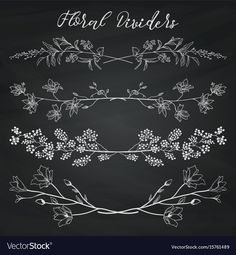 Chalk drawing dividers with branches plants and Vector Image - Chalk drawing di. Chalk drawing dividers with branches plants and Vector Image - Chalk drawing dividers with branches plants and Vector Image Chalkboard Doodles, Blackboard Art, Chalkboard Drawings, Chalkboard Lettering, Chalkboard Designs, Chalk Drawings, Chalkboard Print, Chalkboard Ideas, Chalk Lettering