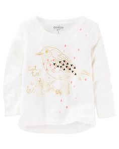 Kid Girl Bird Tee from OshKosh B'gosh. Shop clothing & accessories from a trusted name in kids, toddlers, and baby clothes.